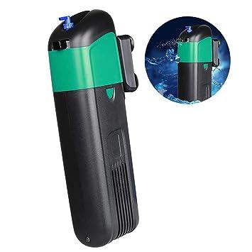 PIG Acuario Filtro Interior Esterilizador UV Interno Filtro Acuario Tanque Luz UV Bomba Sumergible de desinfección Ultravioleta Adecuada para Todo Tipo de ...