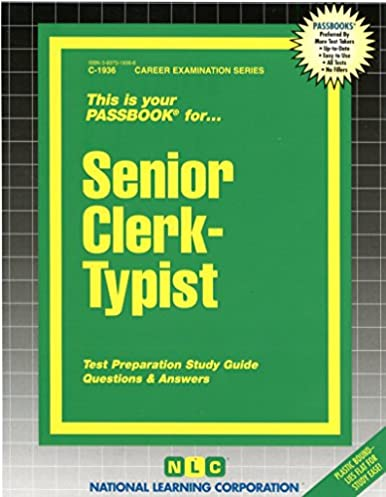 senior clerk typist passbooks career examination passbooks jack rh amazon com NY State Civil Service civil service test ohio study guide