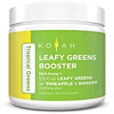 KOYAH – Organic Leafy Greens Booster Powder – Tropical Greens: 1 Scoop = 1/2 Cup of Leafy Greens with Pineapple & Banana (30 Servings), 100% Freeze-Dried, Whole-Food, Superfood