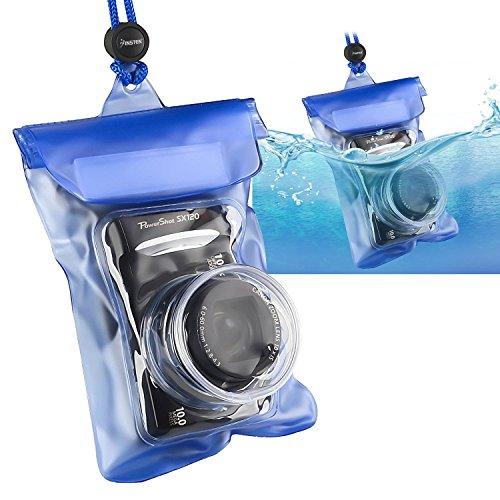 Insten Waterproof Camera Case with Rope, Blue