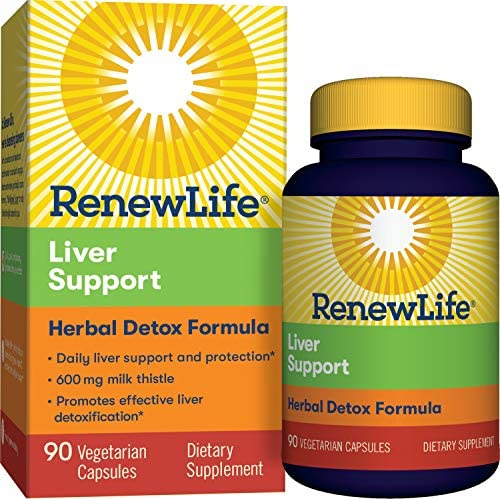 Renew Life Adult Cleanse – Liver Support – Herbal Detox Formula – 600mg of Milk Thistle, Gluten Dairy Free – 90 Vegetarian Capsules Packaging May Vary