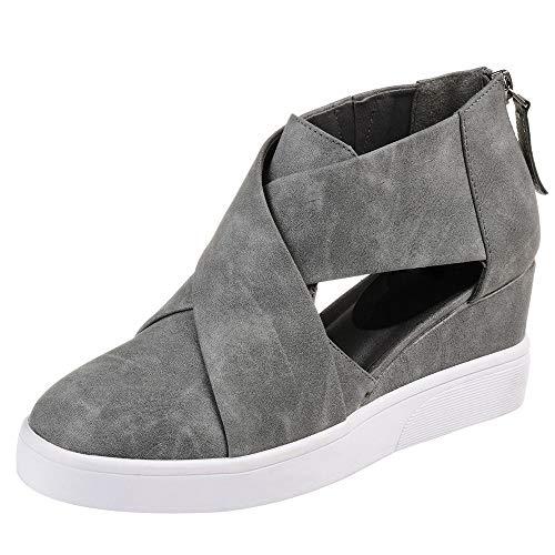 Amazon.com | XUANOU Raising Casual Shoes Flat Zipper Scrub Matching Shoes Woman Skechers Velvet | Shoes