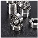 SODIAL(R) 10pcs 13Size Miniature Metal Shielded Sealed Groove Model Ball Bearing Size: MR104-ZZ 4*10*4mm