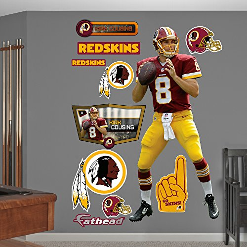 NFL Washington Redskins Kirk Cousins Big Wall Decal by Fathead Peel and Stick Decals