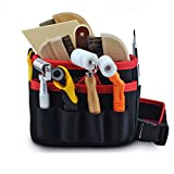 Hense Tool Bag - Rigid Canvas Heavy Duty Workshop Tool Pouches, Best for Men / Women Handymen Carpenter Woodworking (HSZ-15-B-US) (#8 Pockets)