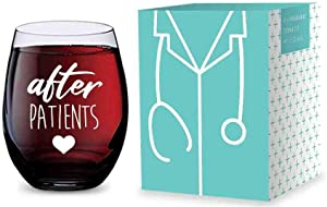 Stemless Wine Glass for Nurses and Doctors (After Patients) Made of Unbreakable Tritan Plastic - 16 ounces