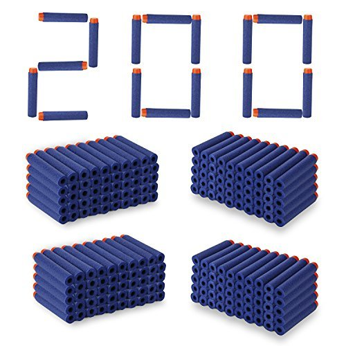 200 Pcs 7.2cm Nerf Darts Soft Foam Nerf Bullets Kid Toy Gun Refill Pack Blue