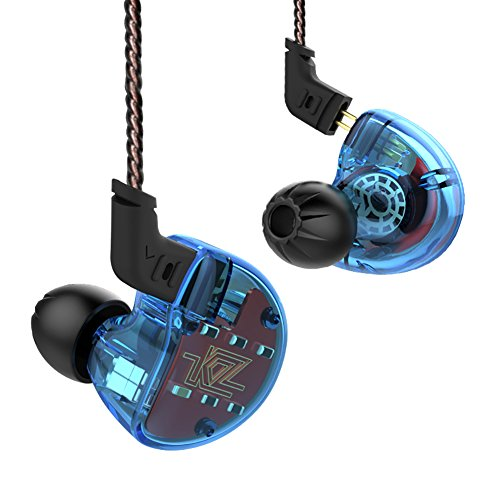KBYN KZ ZS10 Five Drivers In Ear Monitors High Resolution Earphones/Earbuds with Detachable Cable (Without Mic, Blue)