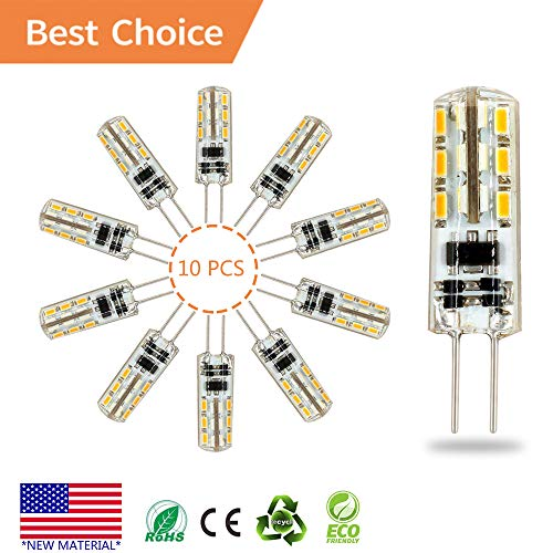 G4 LED Bulb lamp 10PCS, Akindoo 1.5 Watt AC DC 12V Equivalent to 10W T3 Halogen Track Bulb Replacement 360° Beam Angle Non-dimmable (Warm White 2900K-3200K).
