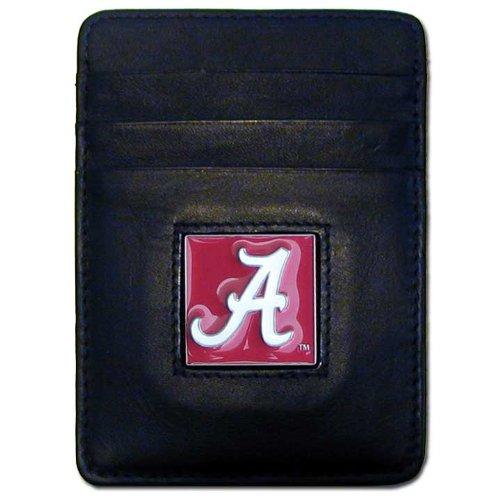 Alabama Money Clip - NCAA Alabama Crimson Tide Leather Money Clip/Cardholder Wallet