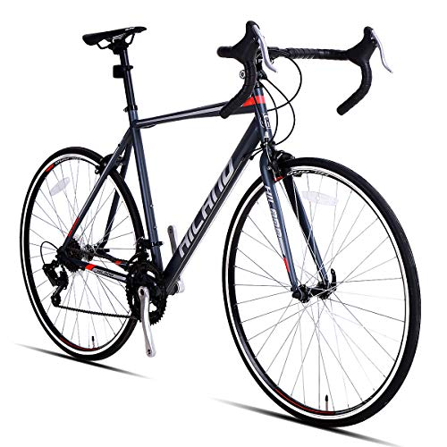 Hiland Road Bike,700C 54 cm Frame City Commuter Bicycle with 14 Speeds Drivetrain,Black