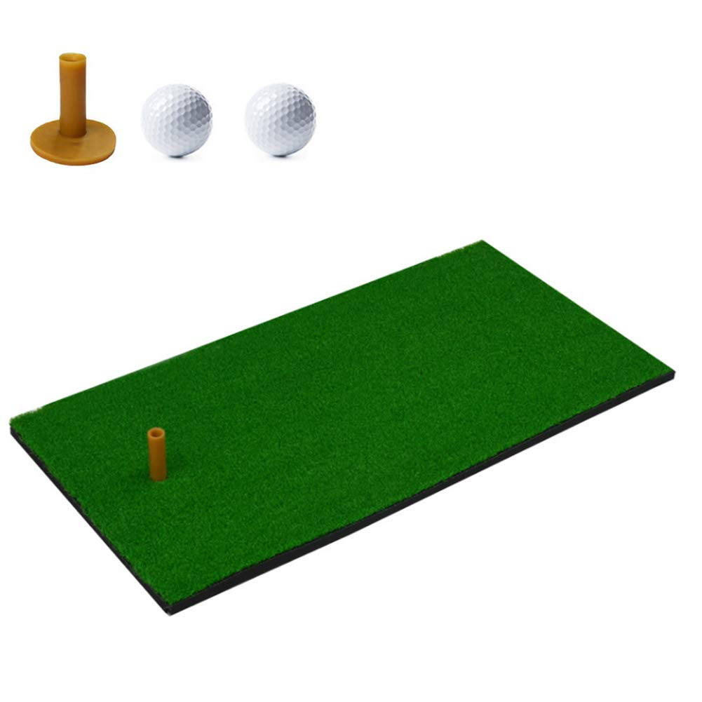 12x24 Inch Golf Hitting Grass Mat Portable Golf Mat Rubber Tee Holder Golf Indoor Swing Cushion Mini Golf Cushion for Backyard Outdoor Indoor Practice Hitting Mat by YC