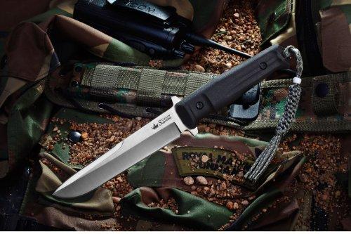 Kizlyar KK0214 Trident AUS-8 Russian Made Tactical Knife, Satin