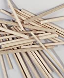 Pack of 8 Round Hardwood Dowel Rods 3/4'' Dia x 36'' Long 7312U C.C. Yellow