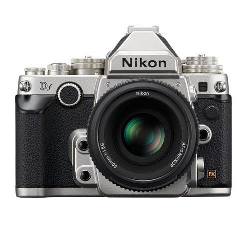 Nikon Df 16.2 MP CMOS FX-Format Digital SLR Camera with AF-S NIKKOR 50mm f/1.8G Special Edition Lens (Silver)