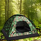 Camping Tent Camouflage Dome Tent Hiking Backpacking Shelters 4 Season Family Instant Tent