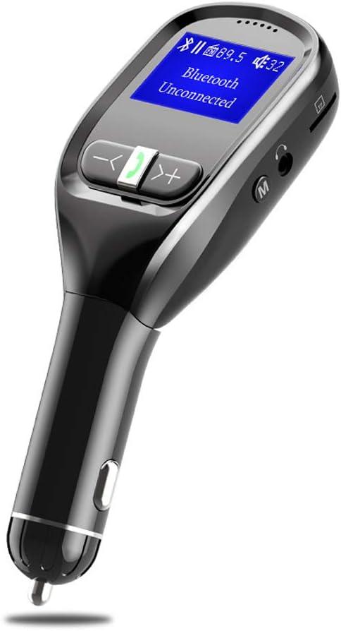 Pantalla LCD Transmisores De Automóviles, Transmisor FM Bluetooth, Reproductor De Mp3 con Llamadas Manos Libres Adaptador De Radio, Accesorios De Carro