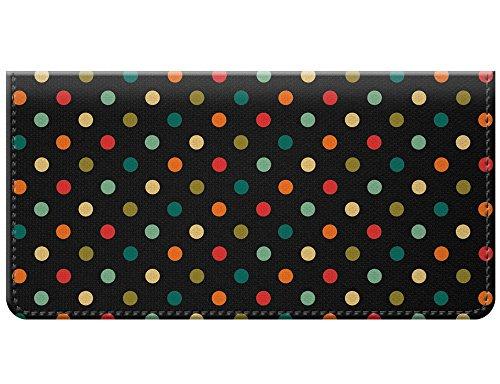 Snaptotes Small Polka Dot Multi Colored Design Checkbook Cover