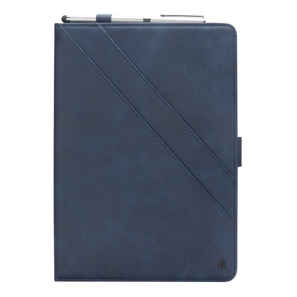 Samsung Galaxy Tab S4 10.5インチ用ケース 高級本革ケース 視聴スタンド付き フリップカバー ハンドメイド Samsung Galaxy Tab S4 10.5インチ用 (ダークブルー)   B07LCHD37Y