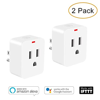 Smart Wifi plug, Poweriver Tuya Smart Plug Work with Google Home, Alexa,  IFTTT, Smart Electrical Outlet No Hub Required, Remote Control everywhere,