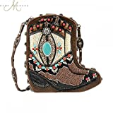 Mary Frances 'Two Step' Cowgirl Boot Handbag, Brown Multi