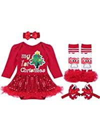 Baby Girls Outfits Newborn Infant Baby's First Christmas Tutu Dress Up