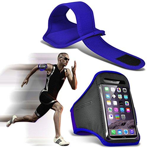 (Yellow) Wiko Rainbow Jam 4G Hülle Abdeckung Cover Case schutzhülle Tasche Einstellbare Sport Armband Fall Abdeckung für Laufen Jogging Radfahren Gym By Fone Case® Blue (XL) 3aOVM0ypT