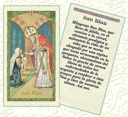 Amazon.com: Oracion a San Blas Tarjeta de Rezo Bendecida ...