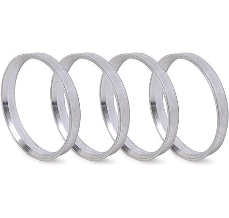 Mazda with 67.1mm Hubs /& 73.1mm Wheels Bore Mitsubishi Pack of 4 KIA Hub Centric Rings 73.1mm OD to 67.1mm ID Silver Aluminum Hub Rings for Hyundai