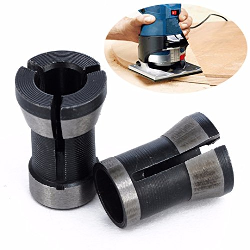 2pcs Engraving Collet Chuck 6.35mm 8mm Trimming Machine Electric Router For Mahinery Manufacturing by Jwn