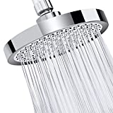 Shower Head-ZQIN 6'Inch High Pressure-Fixed Luxury Chrome-The Best Rainfall Showerhead For Spa And Water Pressure-Adjustable Brass Rotating Ball Headwith Filter