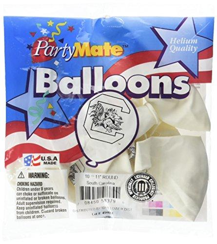 Pioneer Balloon Company 10 Count University of South Carolina Latex Balloon, 11