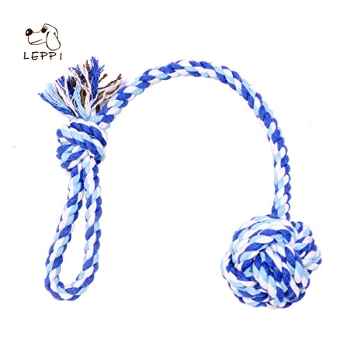 Tug-of-War-Rope-for-Dogs-Cotton-Dental-Chew-Rope-with-Handle-2-Pack-Red-and-Blue
