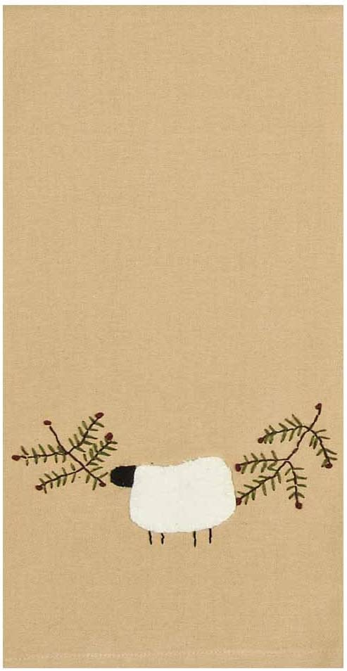 """Home Collections by Raghu Sheep and Vine Towel, 18"""" x 28"""", 2 Piece"""