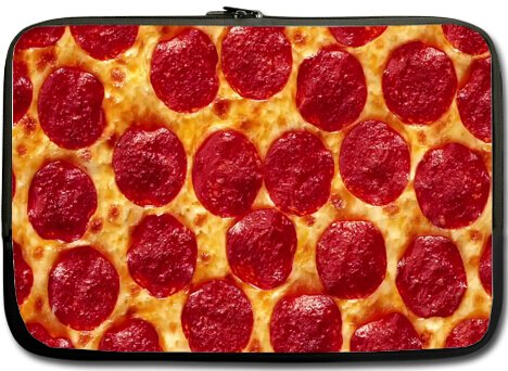 Pizza? Pizza. Funny Special Pizza Delicious Food Beverage Style 13 inch Laptop Netbook Notebook Slipcase Sleeve Soft Case Cover 13'' (Twin Sidess) 13' Food Cover