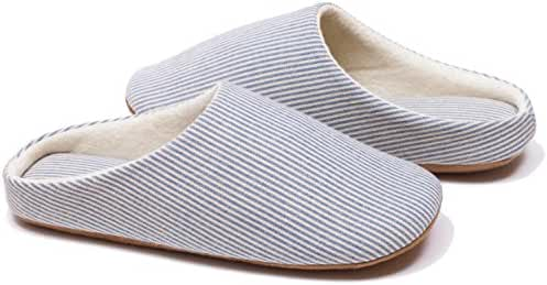 Relaxed Foot Slippers | Organic Cotton & Memory Foam | 1 Pair with Storage Bag
