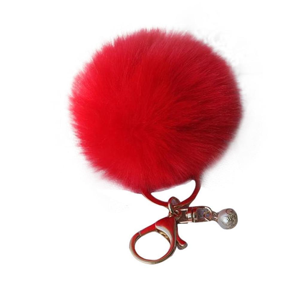Willtoo(TM) Rabbit Fur Ball Bag Plush Pendant Car keychain (White) Willtoo(TM)1569