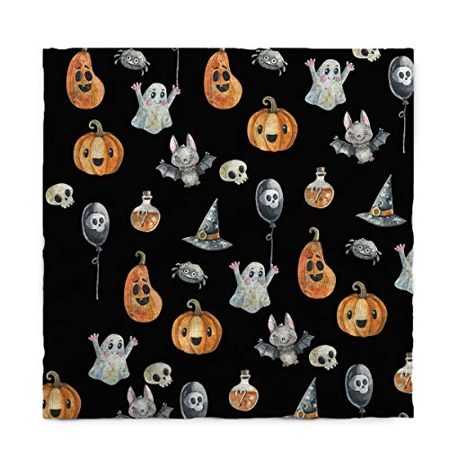 (Fantasy Star Rectangle Polyester Tablecloth, Halloween Ghost Punpkin and Bats Tablecloths Machine Washable Table Cover Decorative Table Cloth for Kitchen Dinning Banquet Parties 60 x 120)