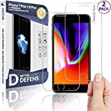 iPhone 8 Plus Glass Screen Protector, iPhone 7 Plus Glass Screen Protector Defenslim by Witkeen Ballistic Tempered Glass Screen Protector iPhone 8 Plus iPhone 7 Plus, (2-Pack) Case Compatible