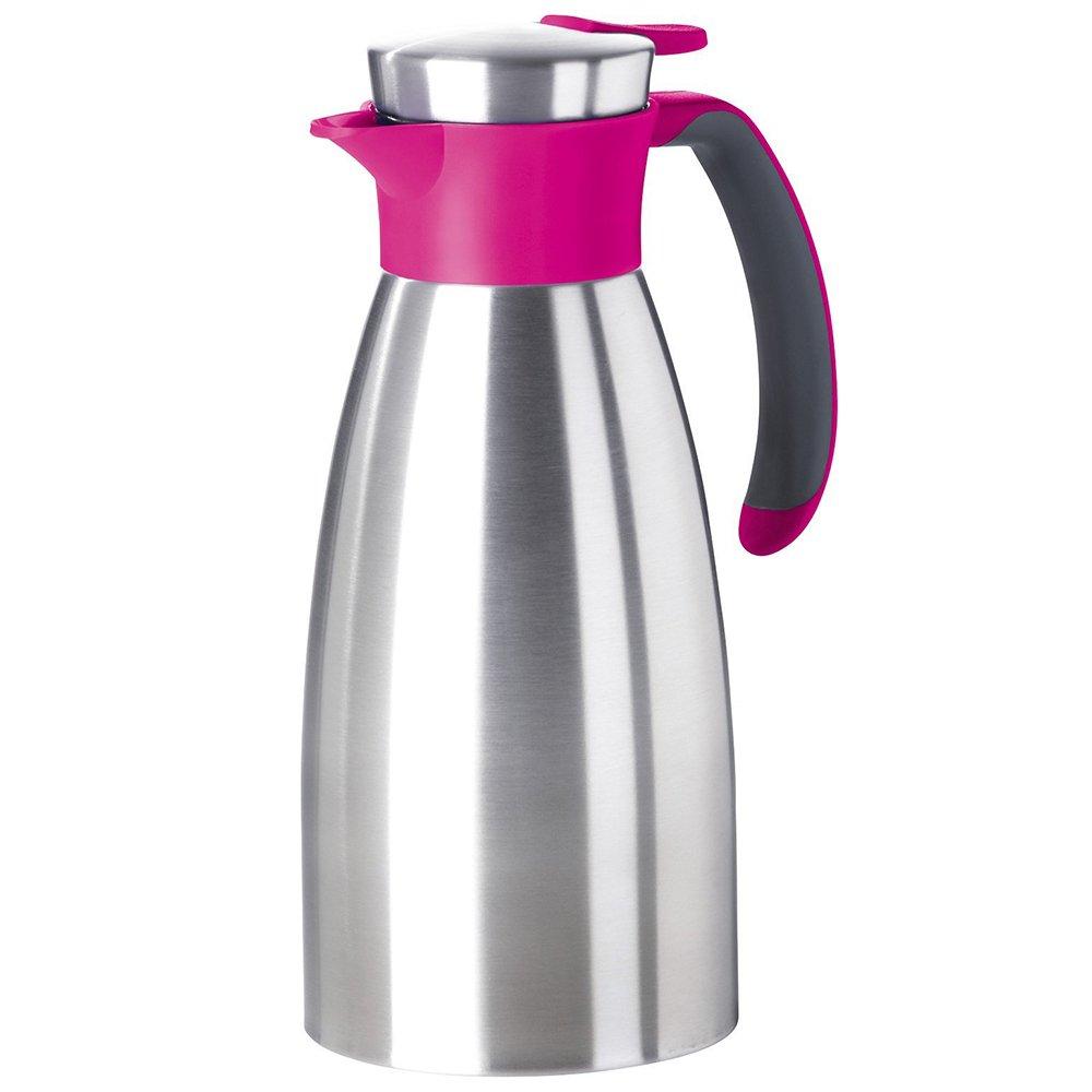 Emsa 512576 Soft Grip Quick-Tip vacuum jug 1.0 litres, raspberry E512576