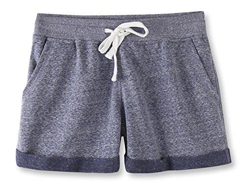 Vetemin Women's Juniors Cotton Stretch Activewear Lounge Shorts Cobalt Melange XL