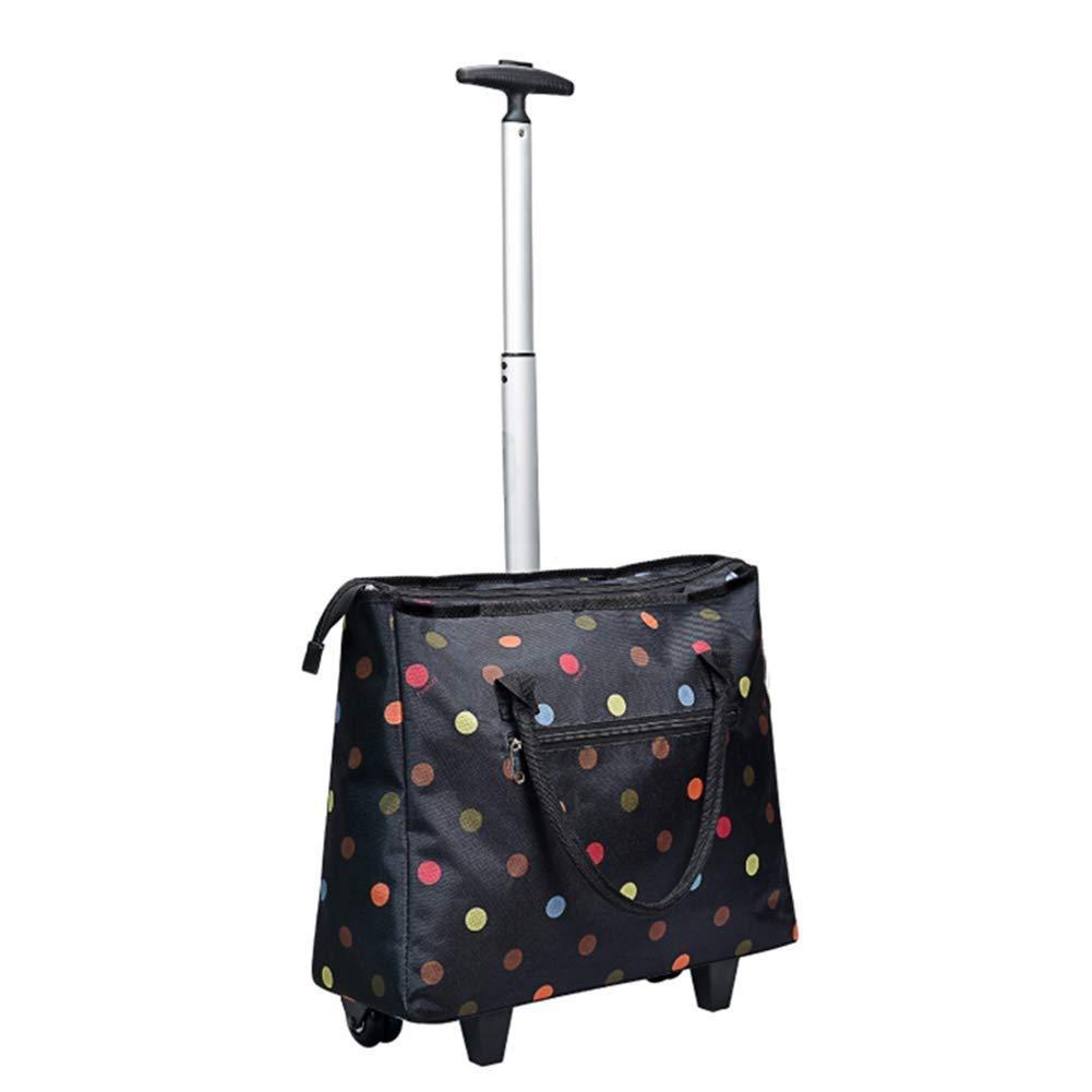 Jueven 折りたたみトロリーバッグポータブルショッピングバッグホームショッピングカート旅行収納バッグ荷物カートトートバッグタグ引っ張り荷物カート (色 : C) B07P7LZW7D C