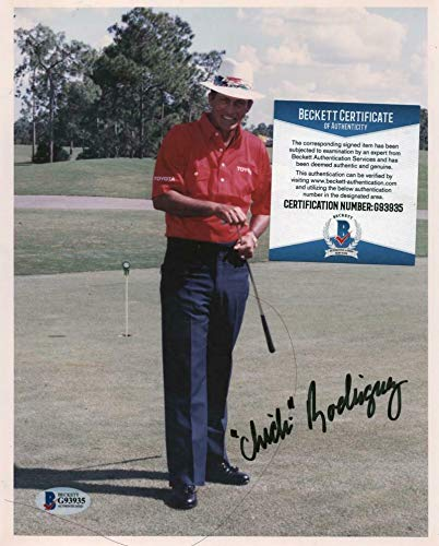 Chi Chi Rodriguez Signed Photo - Famous Golfer 8x10 Beckett G93935 - Beckett Authentication - Autographed Golf Photos