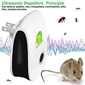 Arrela Pest Control Ultrasonic Repeller Pest Reject Plug-In Electronic Home Pest Control Repellent for Mice, Roaches, Bugs, Flies, Fleas, Ants, Spiders and Mosquitoes (6 packs)