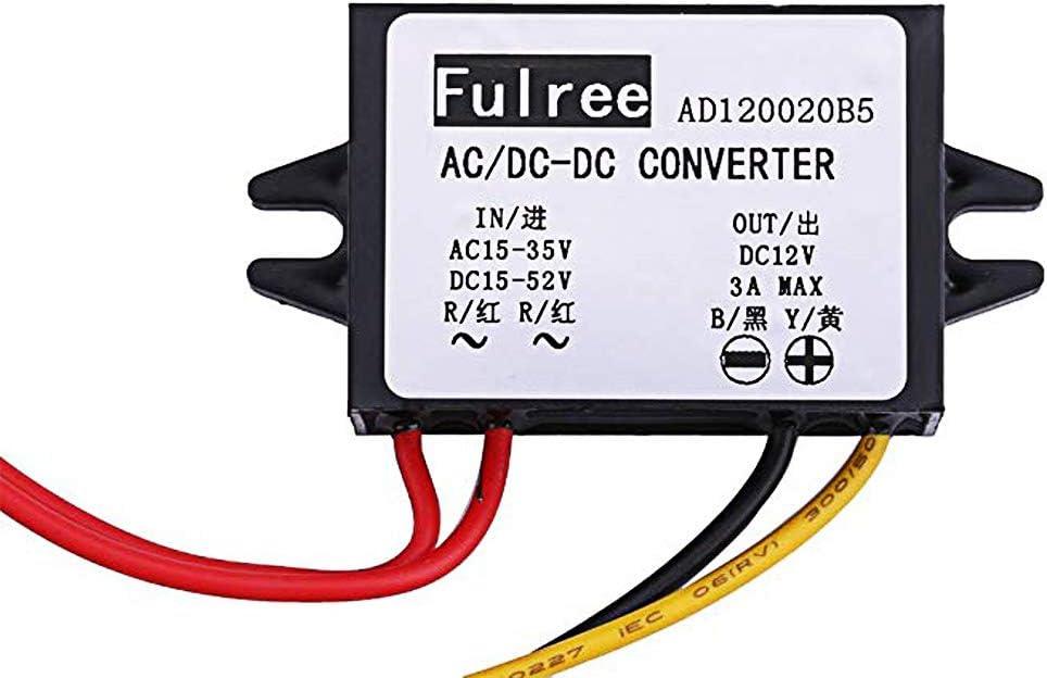 Yeeco Ac Dc Voltage Regulator 15 35 V Ac Dc 15 To 24 V To 12 V Power Supply 3 A Step Down Transformer For Car Auto Sports Utility Vehicles Baumarkt