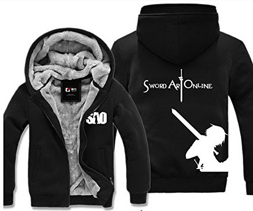 [Xcoser Teens Winter Cotton-padded Jacket Coat Sweatershirt Outwear Black M] (Devil May Cry 3 Costumes)