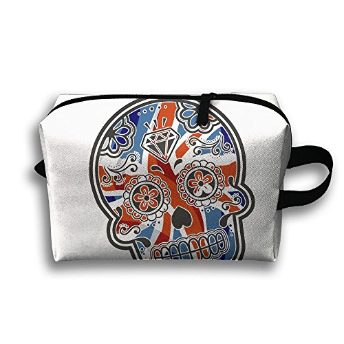 UK Flag Skull Travel Bag Cosmetic Bags Brush