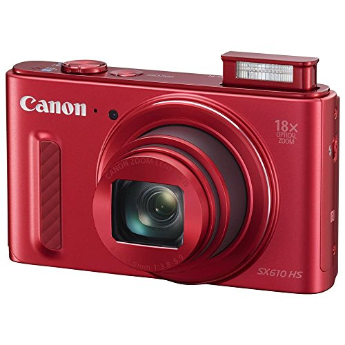 Canon PowerShot SX610 HS Red 20.2 MP 25mm Wide Angle High-End, Advanced Digital Camera HDTV Output