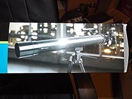 fa9fb5536213b 50x / 100x Refractor Telescope with Adjustable Tripod - Black ...