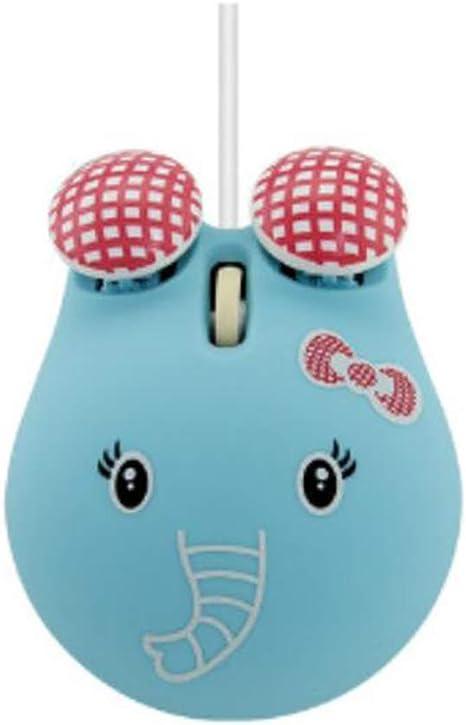 Usb Mini Computer Maus Netten Bär Verdrahtete Optische Pc Maus 3d Cartoon Tier Tragbare Laptop Maus Für Kinder Mädchen Blau Sport Freizeit
